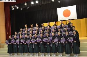 2018年104期卒業式(花束)