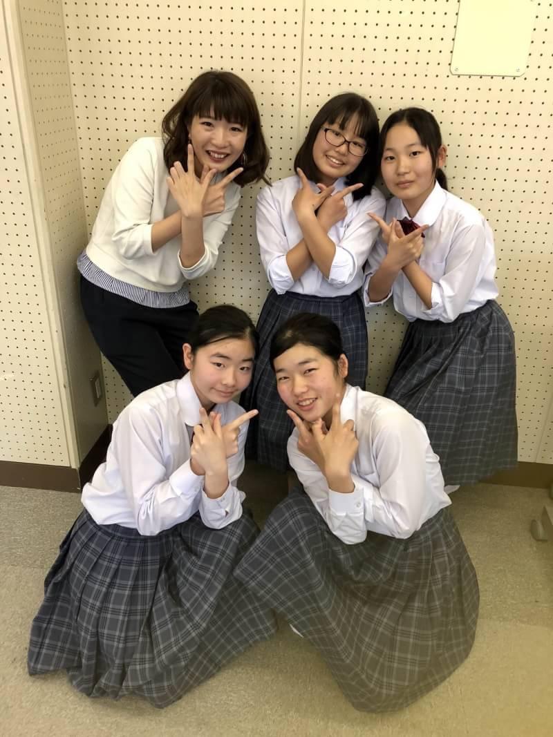 4/25(水)長尾中学校 美術部の登場~! | エフエム宝塚