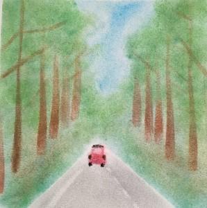 車 並木道
