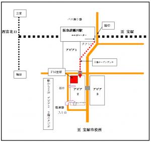 エフエム宝塚の地図
